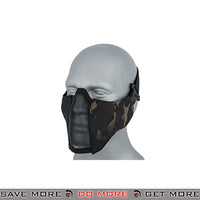 TMC PDW Mesh Mercenary Half Mask - Multicam Black Face Masks- ModernAirsoft.com
