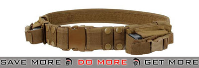 Condor Coyote Brown Tactical Pistol Belt Belts- ModernAirsoft.com
