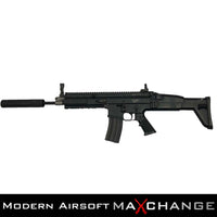 MaxChange Used Tokyo Marui Next Generation Recoil Shock System FNH Licensed SCAR-L / MK16 AEG Rifle With 3 Mags