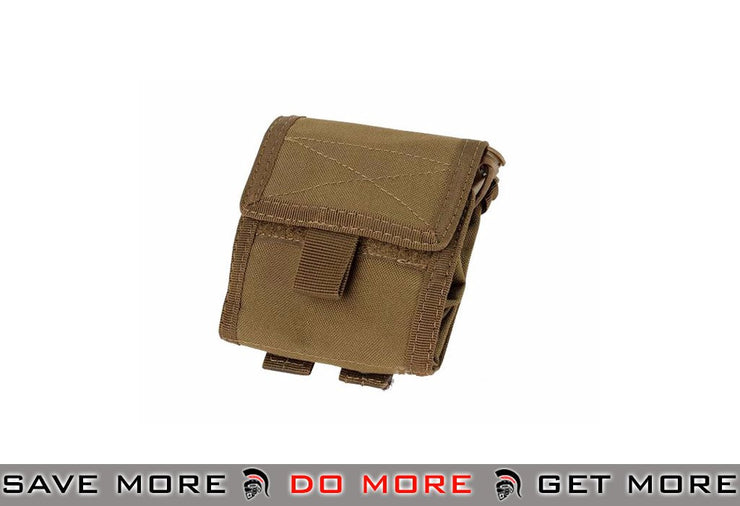 Condor Roll-Up / Foldable Tactical MOLLE Utility Dump Pouch - Color: Coyote Brown - Condor Item Number MA36-498 Tan / Desert / Coyote / FDE- ModernAirsoft.com
