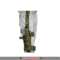 Lancer Tactical Nylon Drop Leg Holster - OD Green Holsters - Fabric- ModernAirsoft.com
