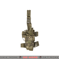 Lancer Tactical Nylon Drop Leg Holster - Camo Tropic Holsters - Fabric- ModernAirsoft.com