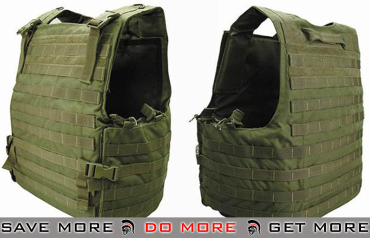 Condor OD Green Plate Carrier MOLLE System Ready Body Armor Vest OD / Green- ModernAirsoft.com