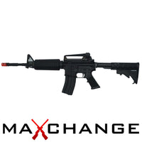 Maxhange Used WE OPEN BOLT FULL METAL M4 AIRSOFT GAS BLOWBACK GBB RIFLE (COLOR: BLACK)