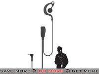 Code Red Headsets Watchman Lapel Microphone w/ PTT - Motorola 1 Pin Head - Headsets- ModernAirsoft.com