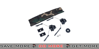 Z-Tactical Helmet Rail Adapter Set for COMTAC I / II Style Headsets - Black Head - Headsets- ModernAirsoft.com