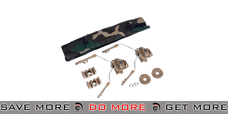 Z-Tactical Helmet Rail Adapter Set for COMTAC I / II Style Headsets - FDE Head - Headsets- ModernAirsoft.com