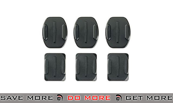 GoPro set of 6 Curved + Flat Adhesive Mounts for HD HERO Professional