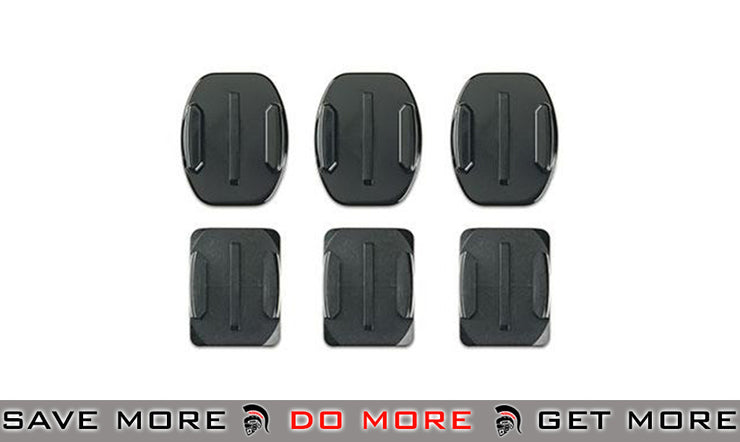 GoPro set of 6 Curved + Flat Adhesive Mounts for HD HERO Professional GoPro / Cameras / Acc.- ModernAirsoft.com