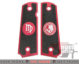 "Angel Custom CNC Machined Tac-Glove ""Zodiac"" (Sign: Virgo) Red Grips for 1911 Tokyo Marui Parts- ModernAirsoft.com"