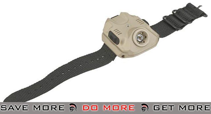 Lancer Tactical Variable Output LED WristLight (240 Lumens / Tan) flashlight- ModernAirsoft.com