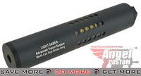 "Angel Custom 200mm x 38mm ""Light Saber"" Advanced Tracer System with Flare Technology - 14mm Negative Mock Silencer- ModernAirsoft.com"