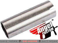 Angel Custom CNC Advanced Stainless Ribbed Airsoft AEG Cylinder 370mm+ Cylinders- ModernAirsoft.com