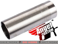 Angel Custom CNC Advanced Stainless Ribbed Airsoft AEG Cylinder Full Length Cylinders- ModernAirsoft.com