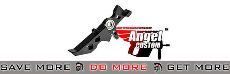 Angel Custom CNC Aluminum Black Tunable Trigger for M4/M16 AEGs *Shop by Gun Models- ModernAirsoft.com