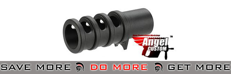 Angel Custom CNC Black Aluminum Compensator for TM / WE 1911 Series GBB Pistols WE-Tech Parts- ModernAirsoft.com
