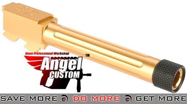 Angel Custom CNC Gold Aluminum Outer Barrel for KWA ATP Series GBB Pistols