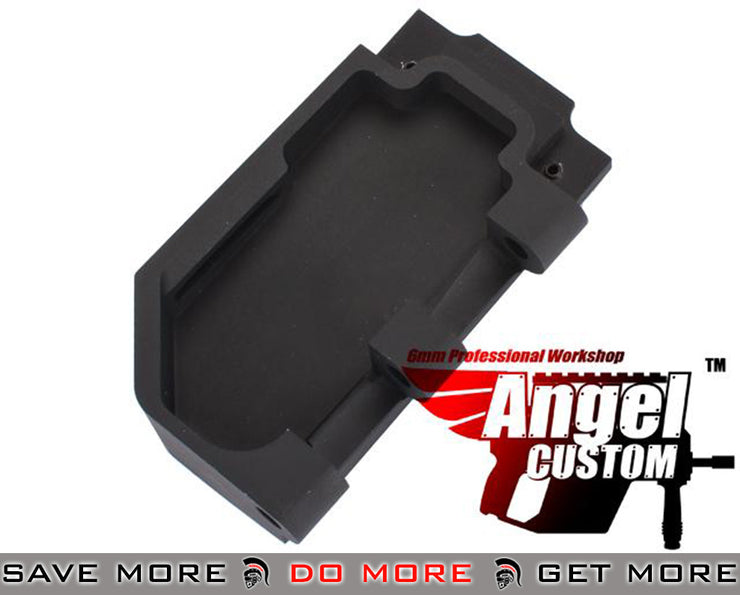Angel Custom CNC Black Aluminum Reinforced WE SCAR Hinge Plate WE-Tech Parts- ModernAirsoft.com