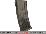 CYMA 520rd Bulgarian Style Hi-Cap Magazine for AK Series Airsoft AEG Rifles (Translucent) Electric Gun Magazine- ModernAirsoft.com