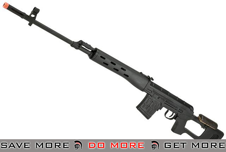 A&K SVD Dragunov Airsoft AEG Sniper Rifle (Black) Airsoft Electric Gun- ModernAirsoft.com