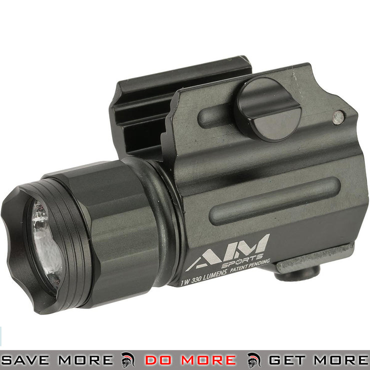 AIM Sports 330 Lumen Sub-Compact LED Quick Release Flashlight EDC / Tactical- ModernAirsoft.com