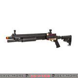 JAG Arms Scattergun SP Railed Airsoft Gas Shotgun Gun w/ Side Saddle - BLK
