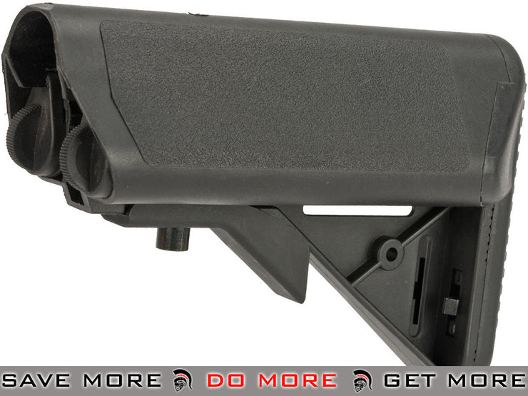 A&K PTW / STW M4  PTW M4 Series AEG Type Crane Stock with Flocked Cheek Pads Stocks- ModernAirsoft.com