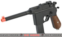Broom Handle Full Metal 1:1 Scale German WWII Mauser Airsoft Replica Spring Pistol Air Spring Pistols- ModernAirsoft.com
