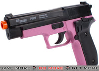 Sig Sauer Licensed P226 Spring Powered Airsoft Pistol - (Black / Pink) Air Spring Pistols- ModernAirsoft.com