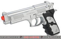 UKArms M757 Full Size M9 Airsoft Spring Pistol - Silver Air Spring Pistols- ModernAirsoft.com