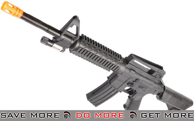 UKArms 2/3 Scale M4 RIS crane stock Airsoft rifle w/ laser Air Spring Rifles- ModernAirsoft.com