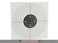 Stiff Card Paper Targets with Scoring Rings for Trap Style Targets - Pack of 100 Airsoft- ModernAirsoft.com