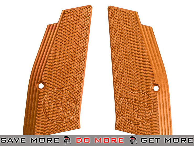 ASG Aluminum Alloy Licensed CZ Grip Panels for CZ SP-01 Shadow Airsoft Pistols (Orange) Others- ModernAirsoft.com