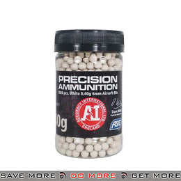 Precision 0.40g 6mm Airsoft BBs by ASG - White, 1000 ct