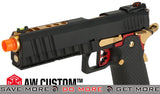 "AW Custom ""Competitor"" Hi-Capa Gas Blowback Airsoft Pistol - Black Gas Blowback Pistol- ModernAirsoft.com"