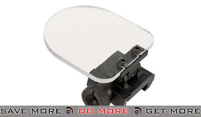 Flip-up QD Scope Lens / Sight Shield Protector (Weaver / Rail Mounted) by Matrix (2 lens) - Black Accessories- ModernAirsoft.com