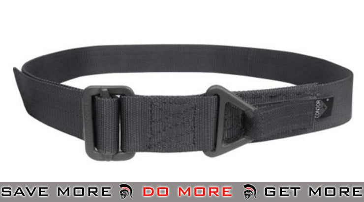 Condor Large / X-Large Black Outdoor Forged Steel Tactical Riggers Belt Belts- ModernAirsoft.com