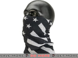 Bobster / Zan Headgear Motley Tube® Neck Protector - Color: Black and White Flag