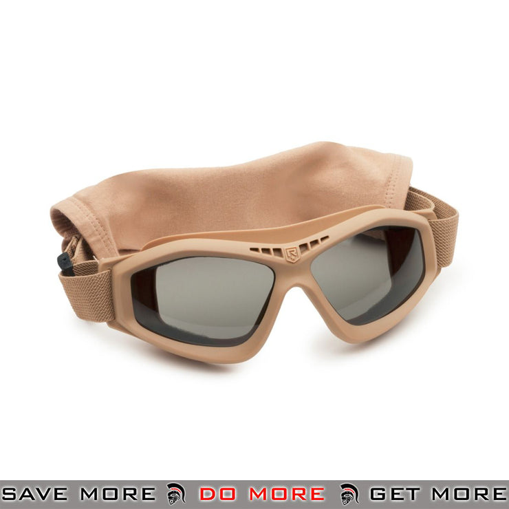 Revision Bullet Ant Ballistic Goggles - Tan, Tinted Lens Head - Goggles- ModernAirsoft.com
