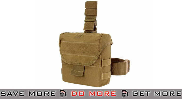 Condor Drop Leg Dump Pouch - Color: Coyote Brown - Condor Item Number MA38 Tan / Desert / Coyote / FDE- ModernAirsoft.com