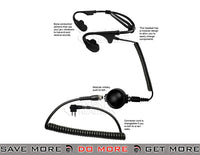 Code Red Battle Zero Motorola 2 Pin Tactical Bone Conduction Radio Headset Motorola 2 Pin Head - Headsets- ModernAirsoft.com