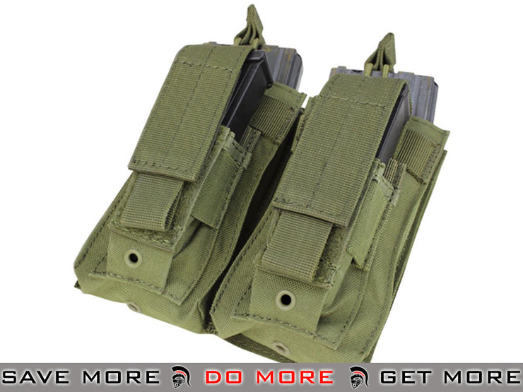 Condor OD Green MOLLE Double Kangaroo M16 & Pistol Mag Pouch OD / Green Pouches- ModernAirsoft.com