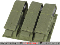 Condor OD Green MOLLE Triple Pistol Magazine Pouch OD / Green Pouches- ModernAirsoft.com