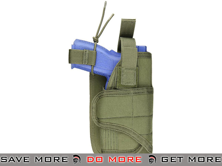Condor Horizontal MOLLE Holster (OD Green) Holsters - Fabric- ModernAirsoft.com