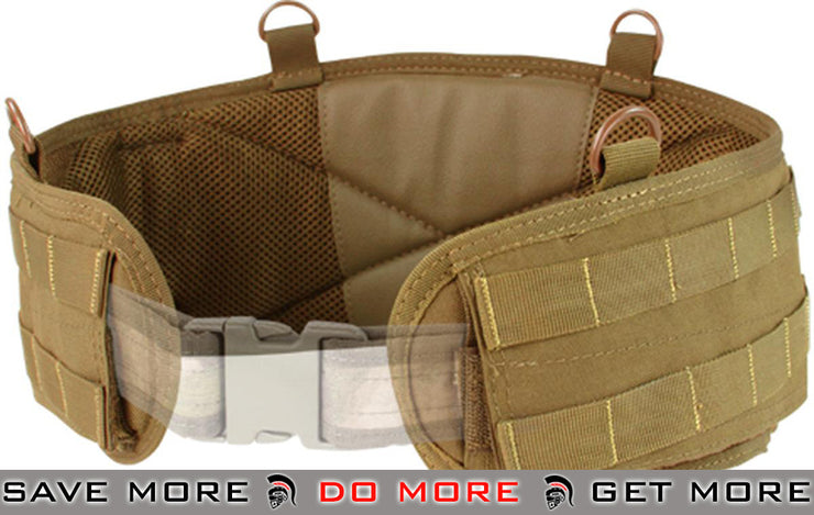 Condor Coyote Brown Large Gen 2 Battle Belt Belts- ModernAirsoft.com