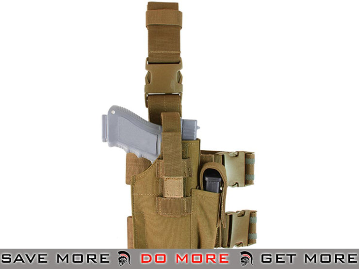 Condor Coyote Brown Tactical Leg Holster Holsters - Fabric- ModernAirsoft.com