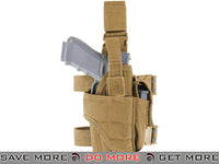 Condor Tornado Universal  Thigh / Drop Leg Holster (Coyote / Right) Holsters - Fabric- ModernAirsoft.com