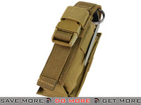 Condor Tactical Single Flashbang / Large Grenade Pouch (Coyote Brown) Tan / Desert / Coyote / FDE- ModernAirsoft.com