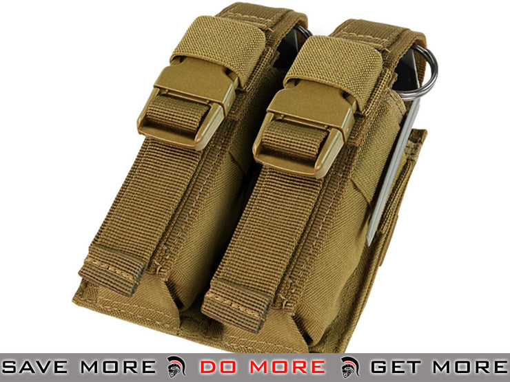 Condor Tactical Double Flashbang / Large Grenade Pouch (Coyote Brown) Tan / Desert / Coyote / FDE- ModernAirsoft.com