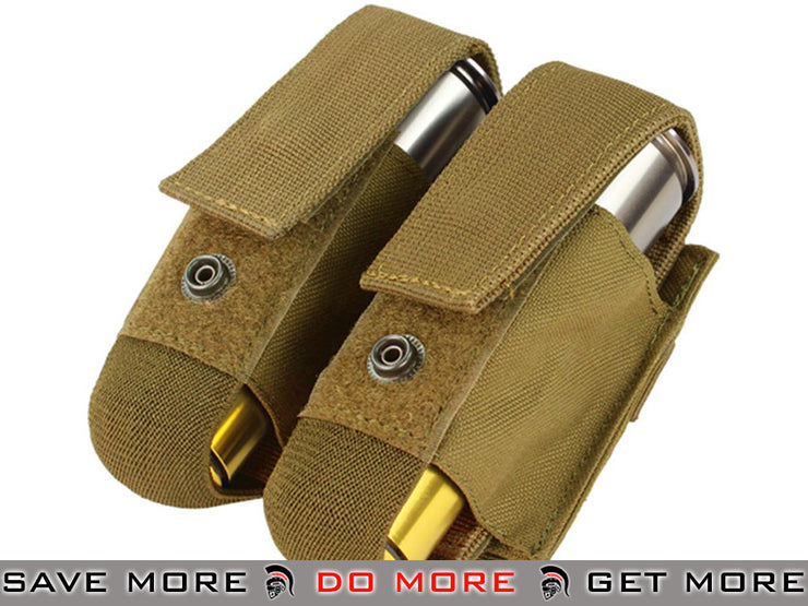 Condor Coyote Brown Tactical Double 40mm Grenade Pouch Tan / Desert / Coyote / FDE- ModernAirsoft.com